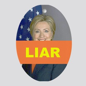 LIAR Oval Ornament