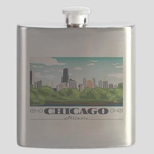 Chicago, Illinois Flask