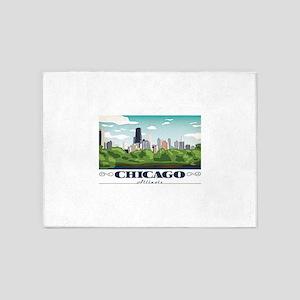Chicago, Illinois 5'x7'Area Rug