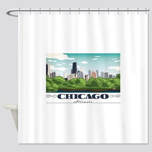Chicago, Illinois Shower Curtain