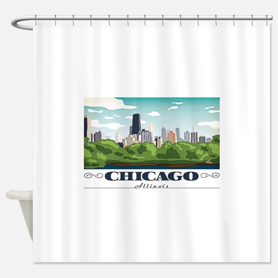 Chicago, Illinois Shower Curtain