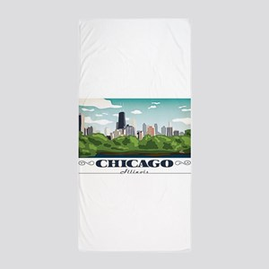 Chicago, Illinois Beach Towel