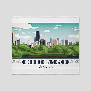 Chicago, Illinois Throw Blanket