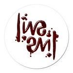 [ LIVE EVIL ] Ambigram Round Car Magnet