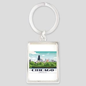 Chicago, Illinois Keychains