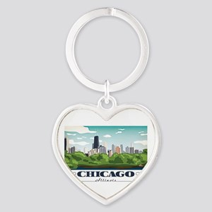 Chicago, Illinois Keychains
