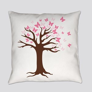Butterfly Hope Tree Everyday Pillow
