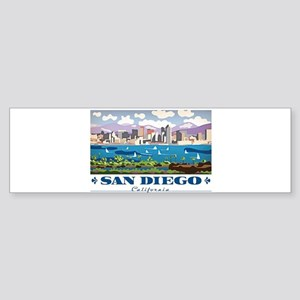 San Diego Skyline Bumper Sticker