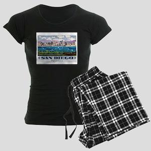San Diego Skyline Women's Dark Pajamas
