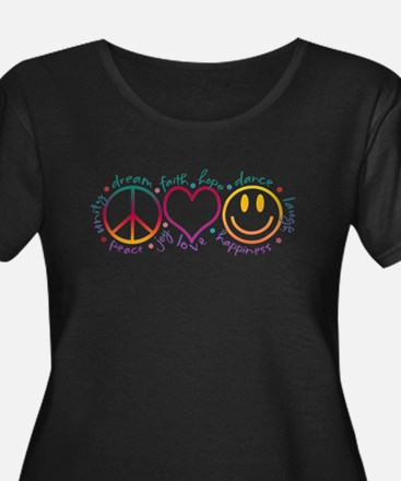 Peace Love Laugh Plus Size T-Shirt