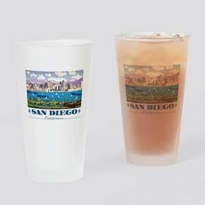 San Diego Skyline Drinking Glass