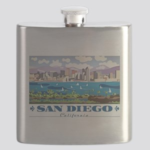 San Diego Skyline Flask