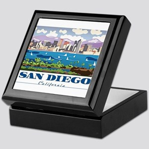 San Diego Skyline Keepsake Box