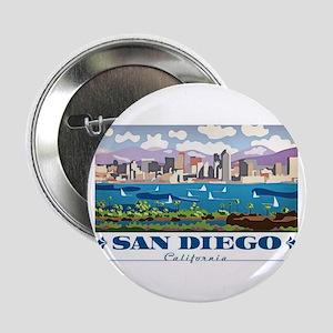 """San Diego Skyline 2.25"""" Button"""