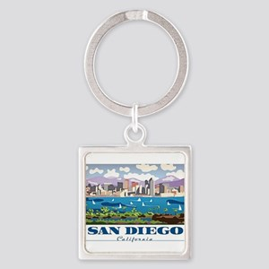 San Diego Skyline Keychains