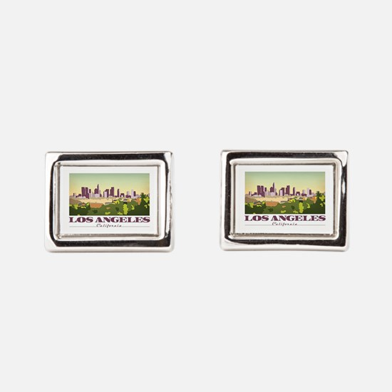 Unique Los angeles Rectangular Cufflinks
