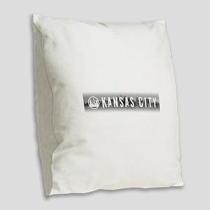 Kansas City, MO Burlap Throw Pillow