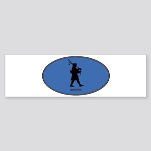Bagpipes (euro-blue) Bumper Sticker