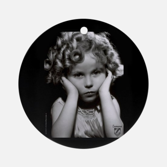 Shirley Temple Pout Round Ornament