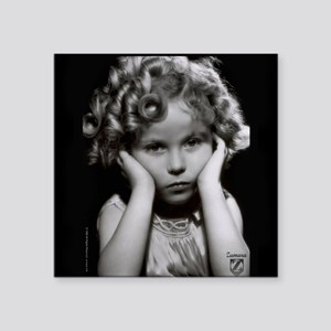 "Shirley Temple Pout Square Sticker 3"" x 3"""