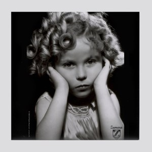 Shirley Temple Pout Tile Coaster
