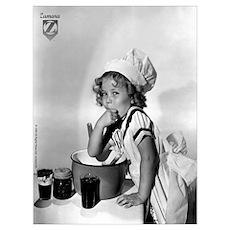 Shirley Temple Baking Wall Art Poster