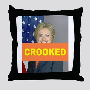 Crooked Hillary Throw Pillow