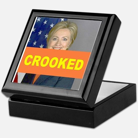 Crooked Hillary Keepsake Box