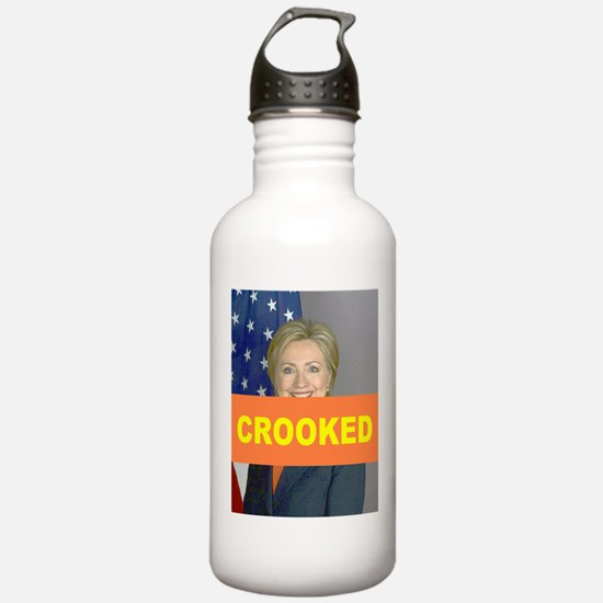 Crooked Hillary Water Bottle