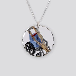 CrutchesWheelchair081210 Necklace Circle Charm