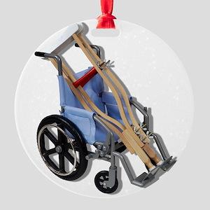 CrutchesWheelchair081210 Round Ornament