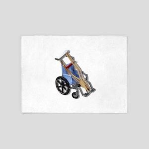 CrutchesWheelchair081210 5'x7'Area Rug