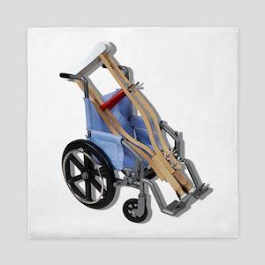 CrutchesWheelchair081210 Queen Duvet