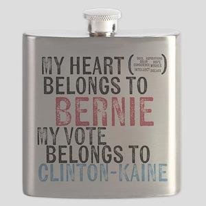 My Heart Belongs to Bernie Flask