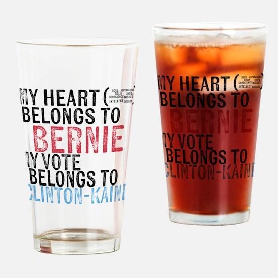 My Heart Belongs to Bernie Drinking Glass