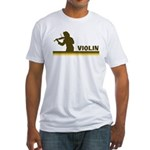 Retro Violin Fitted T-Shirt