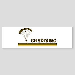 Retro Skydiving Bumper Sticker