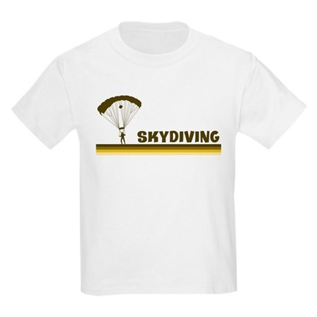 Retro Skydiving Kids Light T-Shirt