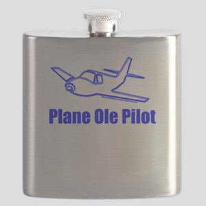 Funny Airplane Pilot Flask
