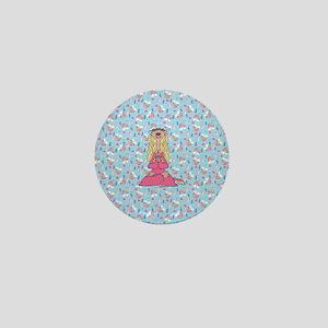 Ice Age Sylvia Pattern Full Bleed Mini Button