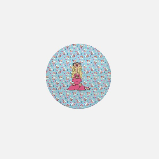 Ice Age Sylvia Pattern Full Bleed Mini Button