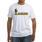 Retro Saxaphone Fitted T-Shirt