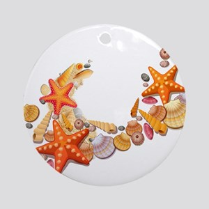 Sea Shells Round Ornament