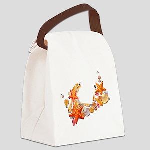 Sea Shells Canvas Lunch Bag