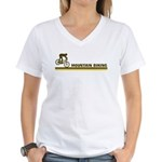 Retro Mountain Biking Women's V-Neck T-Shirt