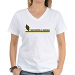 Retro Motocycle Racing Women's V-Neck T-Shirt