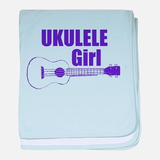 Girls Ukulele baby blanket