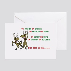 Sick christmas greeting cards cafepress crazy christmas cards greeting card m4hsunfo
