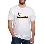 Retro Mens Tennis Fitted T-Shirt