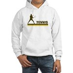 Retro Mens Tennis Hooded Sweatshirt